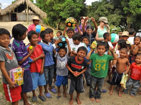 Village kids in Panama