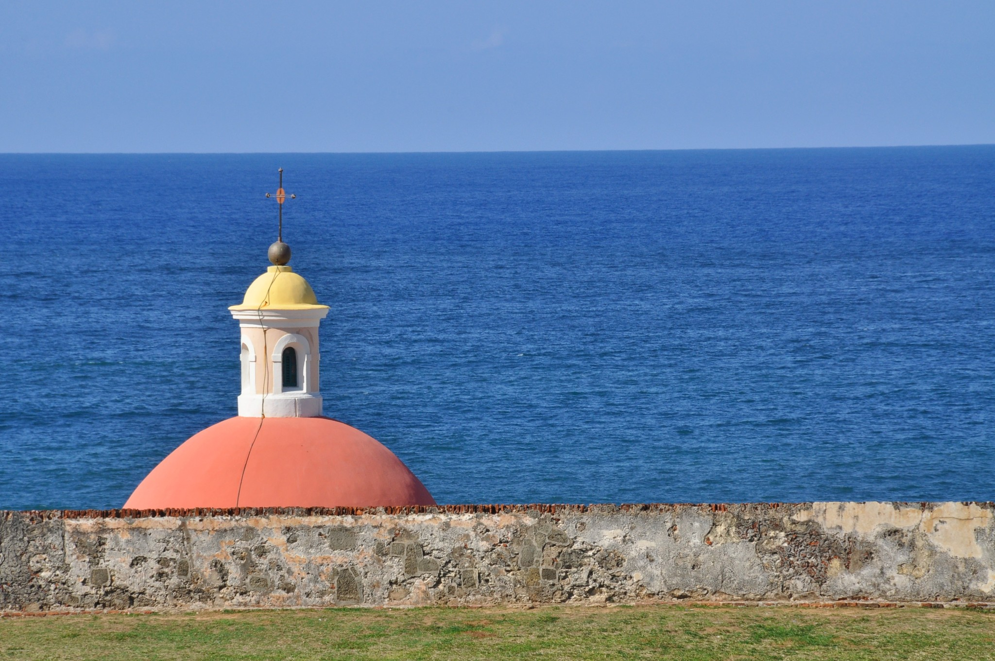 Chapel dome at old San Juan cemetery