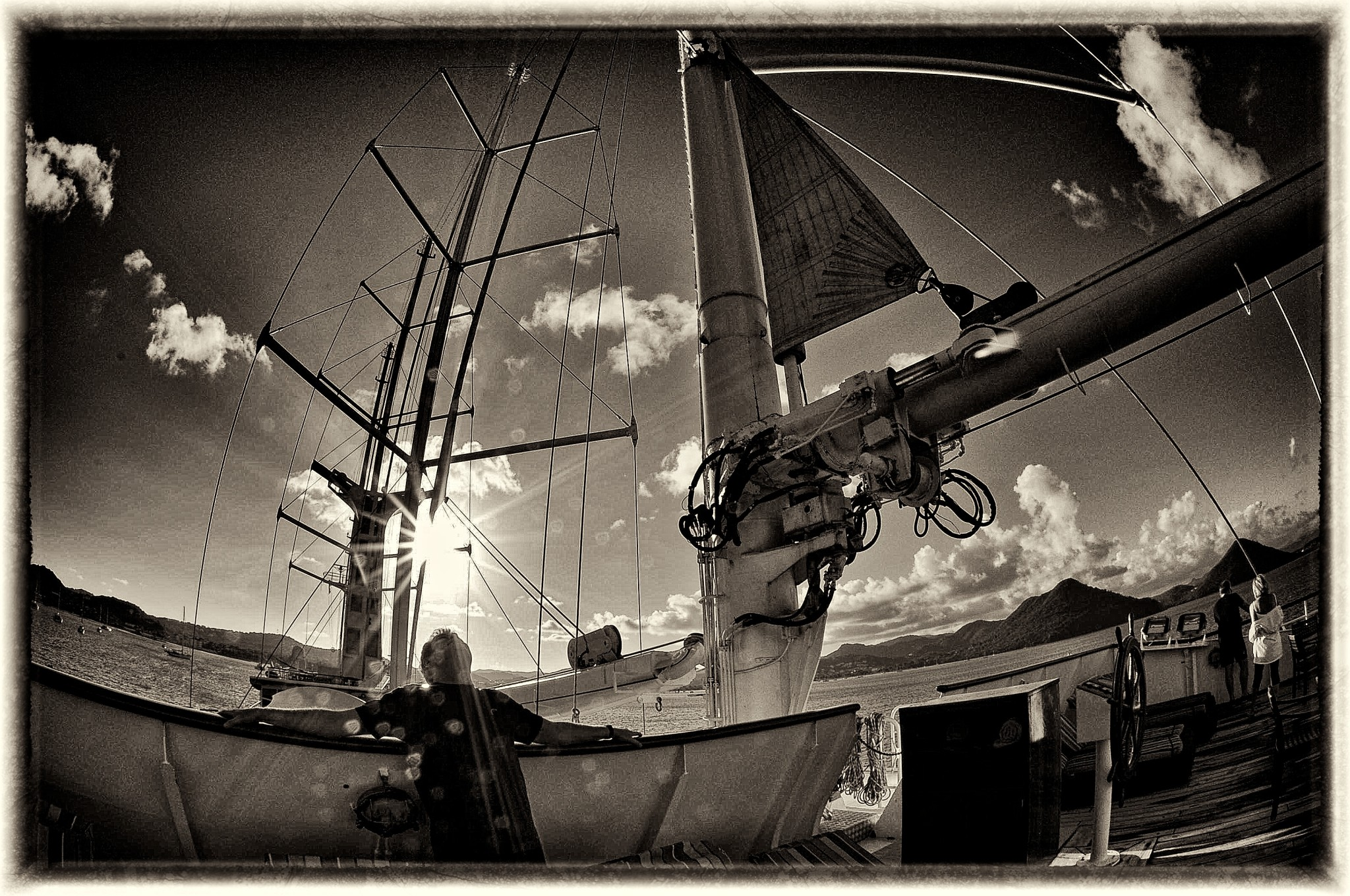 Sailing the Windward Islands in the Caribbean