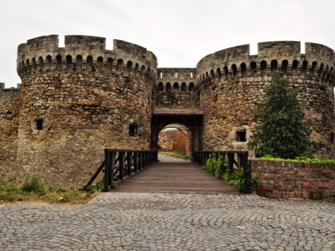 Fortress gate in Belgrade, Serbia
