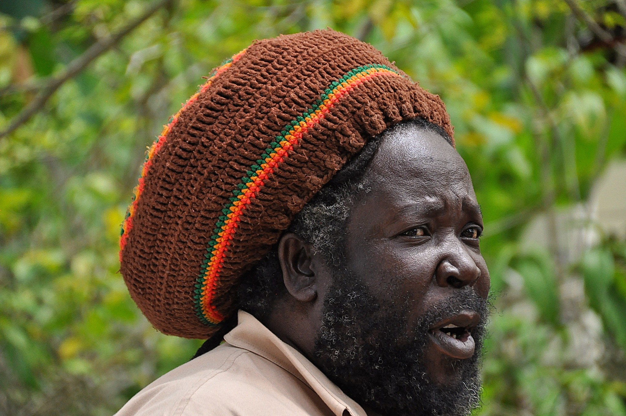 Bob Marley's cousin and Rasta tour guide at the Nine Mile