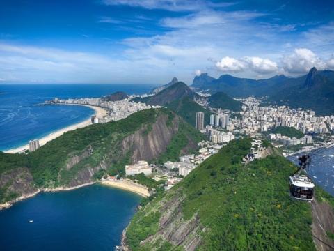 Rio de Janeiro from atop Sugarloaf mountain
