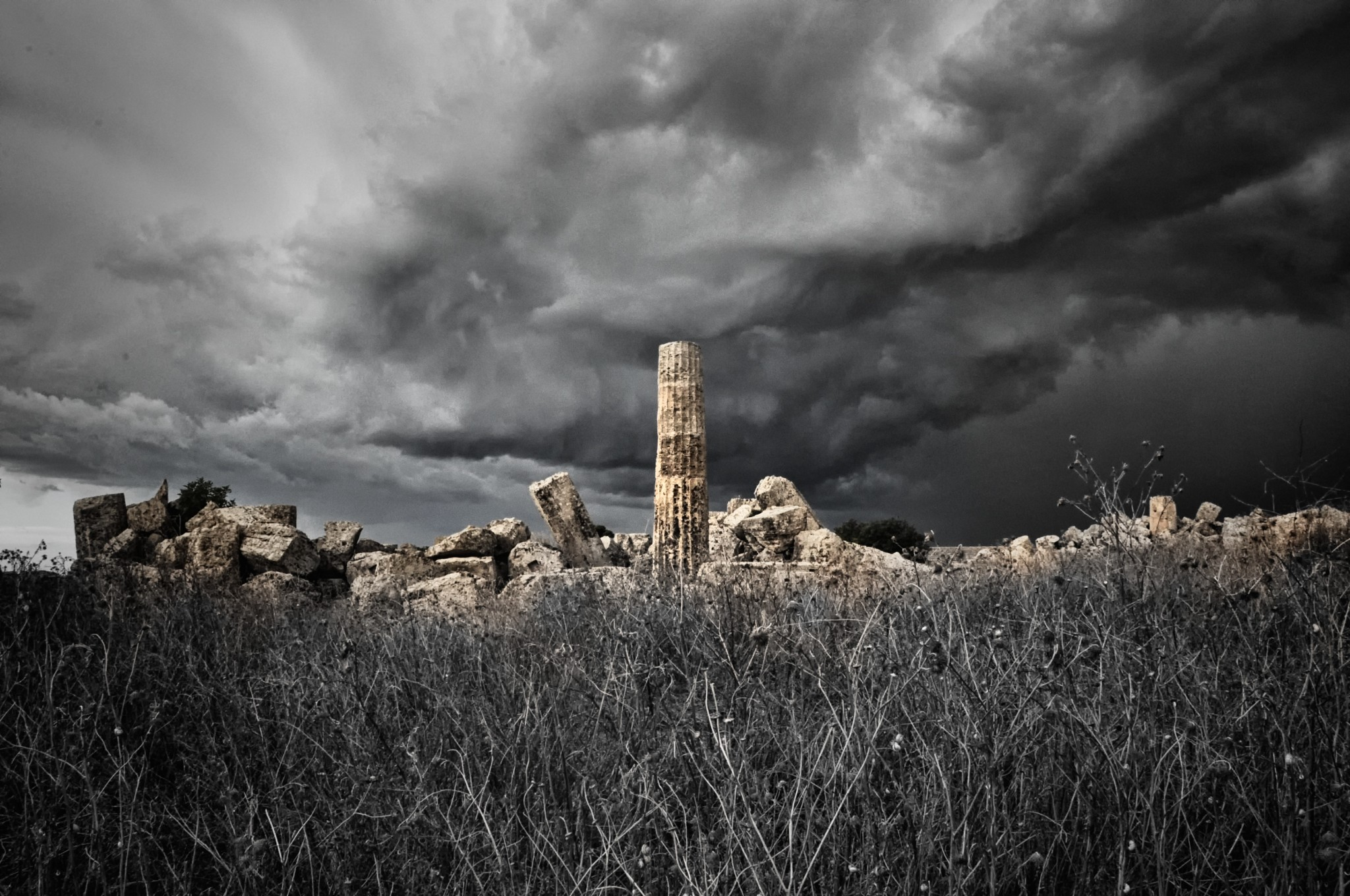 Greek ruins in Selinunte Sicily