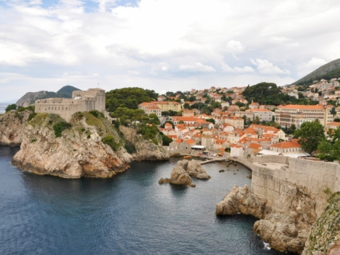 Fort Lovrijenac from the city walls of Dubrovnik