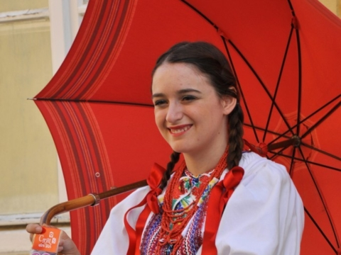 Croatian girl in traditional clothing