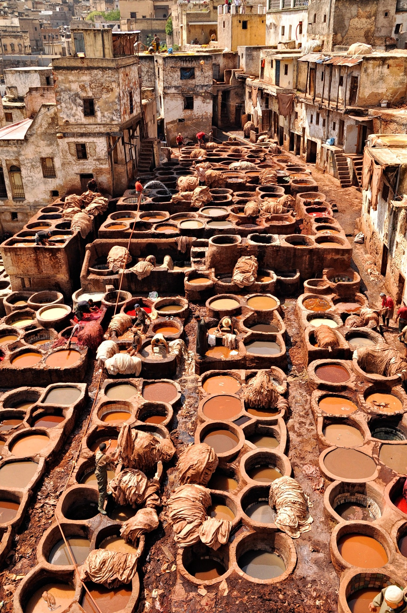 Chouara leather tannery in Fez, Morocco