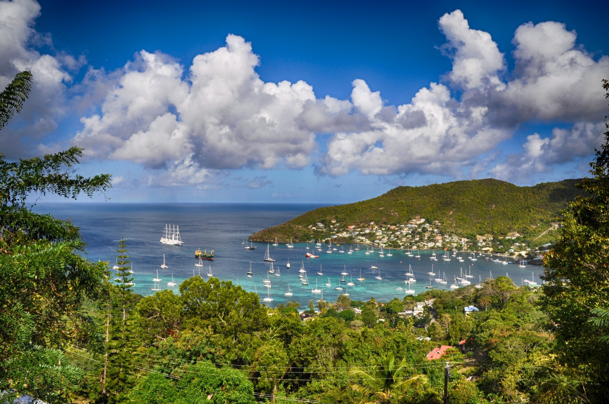 Admiralty Bay and Port Elizabeth in Bequia