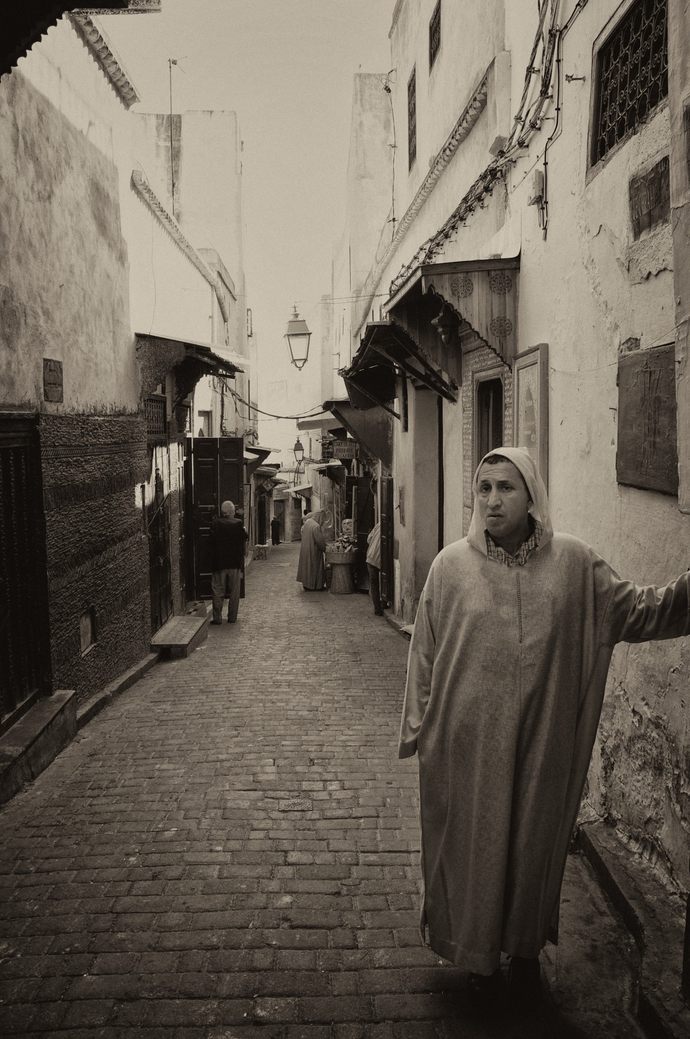 narrow streets of Fez, Morocco