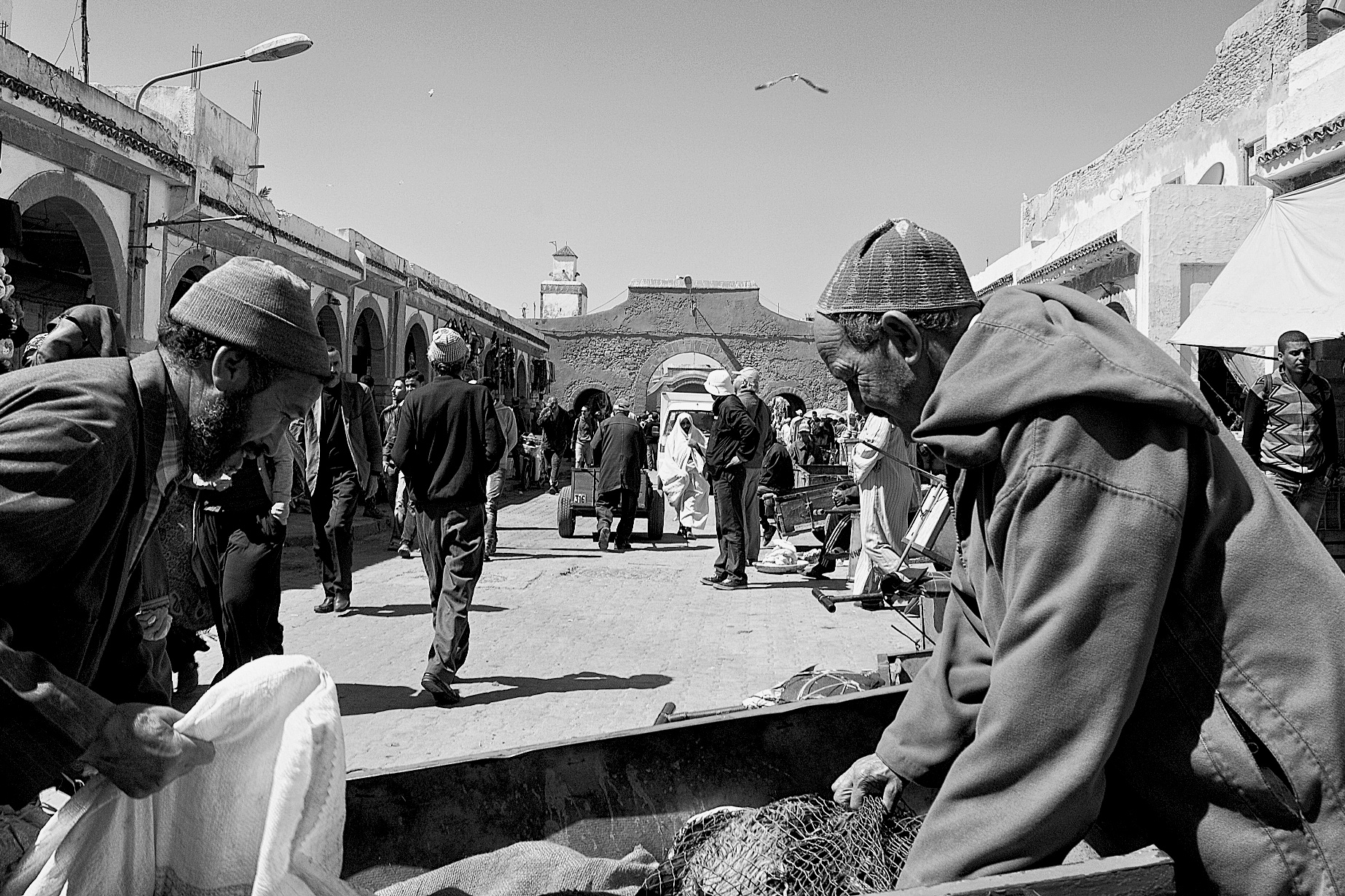 Vibrant market in Essaouira, Morocco